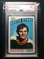 1976 Topps Bryan Hextall #13 HOF PSA 9