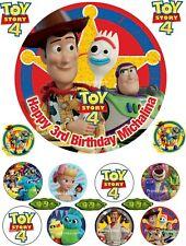 """Toy story 4 Personnalisé 7.5/"""" Cake Topper sur le givrage OU TRANCHE PAPIER"""