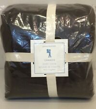 NIP Pottery Barn Kids Chocolate Brown CHAMOIS Duvet Cover TWIN