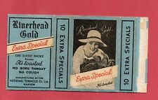 Old EMPTY cigarette packet Riverhead Gold BLUE  Very Rare. pretty lady  #654