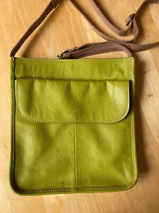 White Stuff Brand New Issy Pocket Leather Crossbody Bag 425119 Lime Green