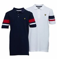 Boys Lyle And Scott Contrast Short Sleeve Pique Polo Sizes Age from 7 to 16 Yrs
