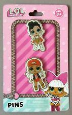 L.O.L. SURPRISE! 2er Set Pins Anstecker Brosche aus Metall Mädchen LOL Motiv 01