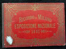 SOUVENIR DE L 'EXPOSITION NATIONALE DE MILAN 1881