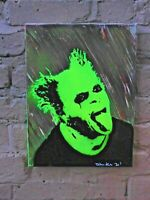 100% Handmade painting stencil art on canvas  Keith Flint Prodigy NOT PRINTED