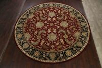 Floral Traditional Agra Oriental Area Rug Hand-knotted Wool Carpet 11'x11' Round