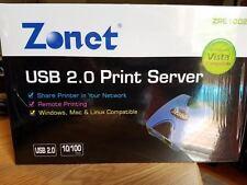 Zonet Print server ZPS1002 USB 2.0 print server