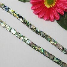 Strang Paua Muschel Abalone 14x10mm Rechteck Perlen