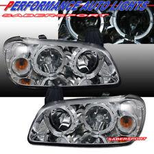 Set of Pair Headlights w/ Halo Rim for 2000-2001 Nissan Maxima GXE GLE SE