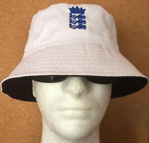 ENGLAND 3 LIONS FOOTBALL HOLIDAY SUN CRICKET EUROS UNI HAT RENI BUCKET SUMMER