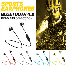 AURICOLARI CUFFIE SPORT WIRELESS BLUETOOTH 4.2 PER IPHONE SAMSUNG ZENFONE HTC