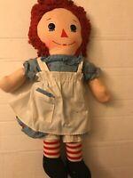 "Plush Stuffed Soft Vintage Cloth Doll Knickerbocker 15"""