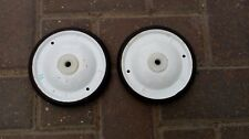 TRIANG VINTAGE WHITE 4.5 INCH TOY WHEELS
