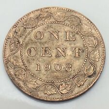 1908 Canada Large Penny 1 One Cent Canadian Circulated Coin E322