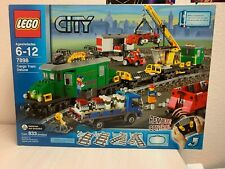 LEGO CITY CARGO DELUXE TRAIN #7898 833 pcs Remote Control Truck Crane Cars