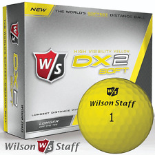 """NEW 2017"" WILSON STAFF DX2 SOFT YELLOW GOLF BALLS / DOZEN PACK / 12 BALL PACK"