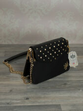 Classy Pochette Satchel Shoulder Bag Evening Clutch Rhinestone Black Lydc 665S