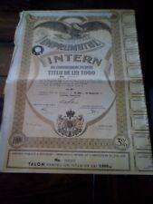 Datoria Publica, Imprumutul Intern 3% 1935 1000 Lei aandeel