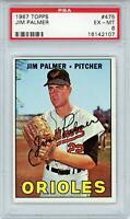 Jim Palmer Baltimore Orioles 1967 Topps #475 PSA 6 Card Topps