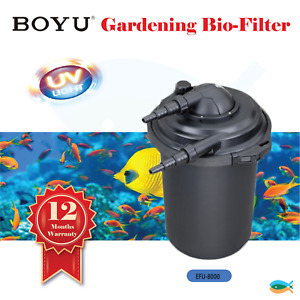BOYU Gardening Bio-Filter Aquarium Fish Tank Pond 5000-8000L UV Steriliser