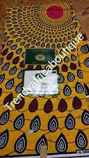 Yellow Ankara wax print fabric for making African dresses. Sold per 6 yards, pri