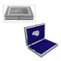 Handcrafted Aluminum Tree of Life Pattern Jewelry Box Velvet Interior Mirror