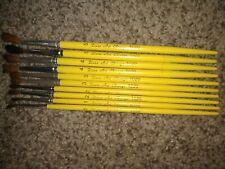 Set Of 10 Duro Art Chicago 1020 Paint Brushes
