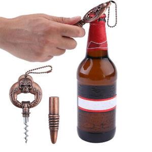 Metal Multifunction Skull Pattern Beer Red Wine Corkscrew