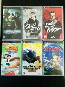 Lot of 5 Various Game Cartridges & Brave Story Visual Work Sony PSP From Japan