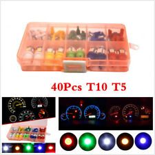 40 Pcs Car Auto T5+T10 LED Instrument Panel Cluster Plug Dash Light Mixed BulbS