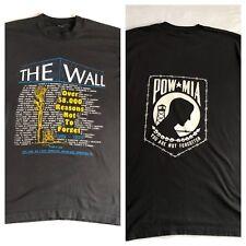 Vietnam Wall Vintage Shirt XL 50/50 Best Fruit of the Loom Single Stitch Black