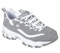 11930 Gray White D'lites Skechers Shoes Women's Sport Casual Comfort Memory Foam