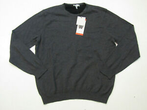 HICKEY FREEMAN Charcoal Gray Cashmere Blend Sweater Size Medium M NWT Mens