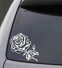 ROSE Vinyl Decal Sticker Car Window Bumper Wall Laptop Flower Black Love Symbol