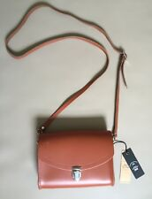 The Cambridge Satchel Company Brown Leather Crossbody Satchel Handbag Small NEW