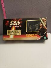 Vintage Star Wars Episode 1 Clash of the Light Sabers Card Game 2 Pewter Figures