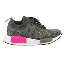 fbc3677761944 Adidas NMD R1 Primeknit Men s Big Kids  Shoes Utility Grey Shock Pink BZ0222