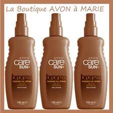 3X Spray Aceite Bronceador En Vaporizador 150ml Sun Avon: de Coco & Vitamina E