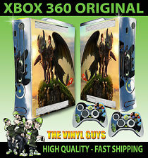 XBOX 360 HOW TO TRAIN YOUR DRAGON TOOTHLESS 01 HICCUP STICKER SKIN & 2 PAD SKINS