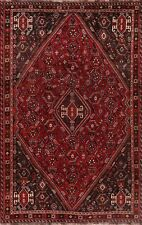 Vintage Geometric Oriental Lori Area Rug Wool Hand-Knotted Medallion Carpet 6x9