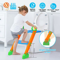 Kids Potty Training Seat w/Step Stool Ladder For Child Toddler Toilet Chair