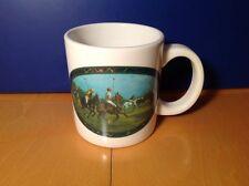 Ralph Lauren Polo Pony Equestrian Horse Coffee Mug White Ceramic Tea Cup