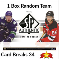 2019-20 UPPER DECK SP AUTHENTIC HOCKEY 1 HOBBY BOX RANDOM TEAM BREAK #1
