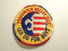 "vintage Boy Scout 3"" Pequabuck Valley District Can Do For Boys BSA Patch"