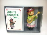 Vintage BRADFORD NOVELTY Just For You Christmas Ornament Holiday Figurine - 1983