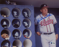 BOBBY COX SIGNED AUTOGRAPHED 8x10 PHOTO ATLANTA BRAVES MANAGER HERO BECKETT BAS