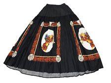 Vtg 1994 Roper Womens Medium Black Western Skirt Horses Cowboy Nwt Deadstock