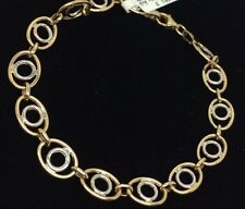 Exquisite Two Tone 9ct Yellow + White Gold Bracelet 3.9g 7.5inch RRP - £249