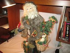 "House of Hatten 24"" Retired Woodsman Victorian Santa"