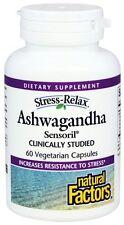 Natural Factors Stress-Relax Sensoril Ashwagandha 60 Vegetarian Capsules